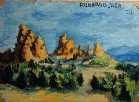 Ксения Александровна Здорова. Сад Богов, Штат Колорадо, США.