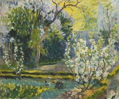 Анри Лебаск. Сад весной