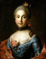 Иван Петрович Аргунов. Портрет неизвестной в темно-голубом платье