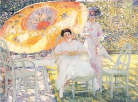 Фридрих Карл Фриске. Девушка с большим зонтом