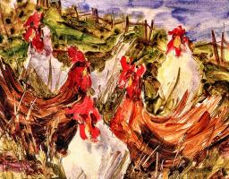 Франсин Хуот. Куриная семья