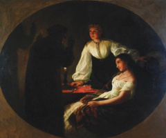 Генрих Ипполитович Семирадский. The night of St. Andrew. Vorozhba