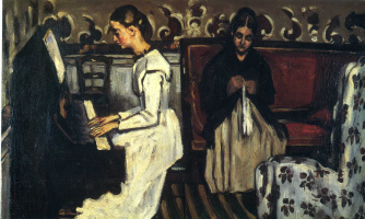 Paul Cezanne. Girl at the piano (Overture to Tannhauser).