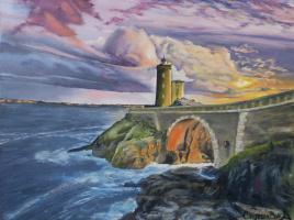 Alina Alexandrovna Kuchinskaya. Lighthouse at sunset