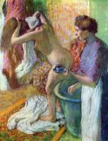 Edgar Degas. Breakfast after bathing