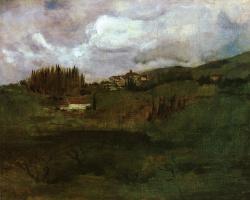 Джон Генри Твахтман. Тосканский пейзаж