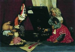 Alexander Ivanovich Laktionov. Still life. Toys