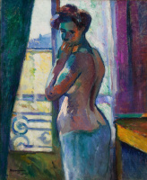 Henri Manguin. Window, street Boursault