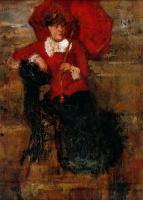 Джеймс Энсор. Красный зонт
