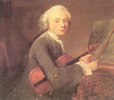 Жан Батист Симеон Шарден. Молодой человек со скрипкой (портрет Чарли Теодора Гофри)