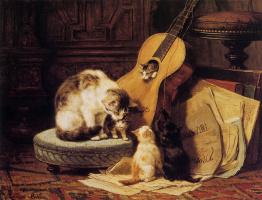 Генриетта Роннер-Книп. Игроки на гитаре