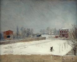 Джузеппе де Ниттис. Зимний пейзаж