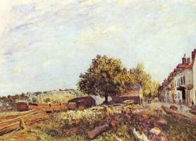 Alfred Sisley. Morning in Saint-Mammes