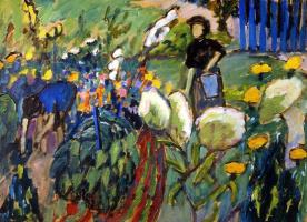 Габриель Мюнтер. Женщины в саду