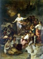Нарсис Виржилио Диаз де ла Пёнья. Цыгане, слушающие предсказания молодой гадалки