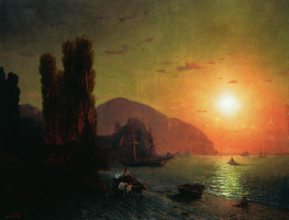 Ivan Aivazovsky. Crimean. Ayu-Dag