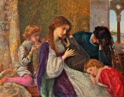 Arthur Hughes. Musical evening