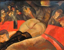Борис Дмитриевич Григорьев. В цирке. 1918