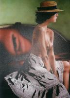 Алан Сагуез. Девушка в шляпе