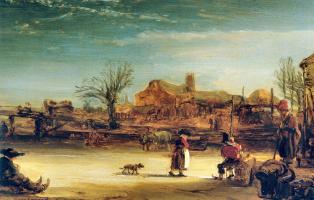 Rembrandt Harmenszoon van Rijn. Winter landscape