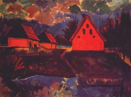 Макс Пехштейн. Красный дом