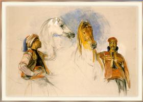 Джон Фредерик Льюис. Лошади лорда Понсобиса