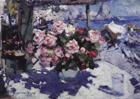 Konstantin Korovin. Roses