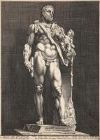Хендрик Гольциус. Геркулес и Телефос. 1590-1594 резцовая гравюра