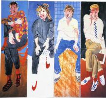 David Hockney. David, Celia, Stephen and Ian, August 1982