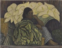 Диего Мария Ривера. Продавщица цветов