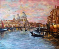 Elena Sh. Venice (The Reproduction of paint from Thomas Kinkade )