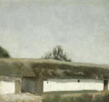 Вильгельм Хаммерсхёй. Пейзаж с фермой