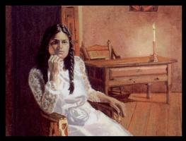 Джим Хьюстон. Девушка в белом платье