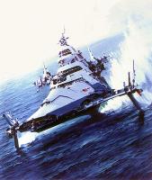 Джон Берки. Военный корабль