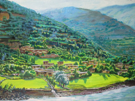 Olga Suncheleeva. Mountain village