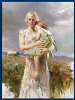 Пино Даени. Ребенок на руках у матери
