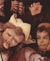 Маттиас Грюневальд. Осмеяние Христа, деталь: Насмешник