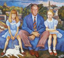 Диего Мария Ривера. Мужчина и две девочки