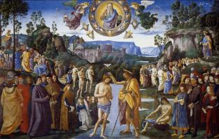 Пьетро Перуджино. Крещение Иисуса Христа