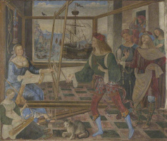 The return of Odysseus (Penelope with the suitors)