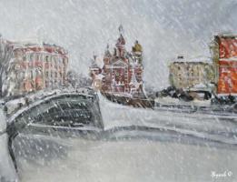 Фёдор Иванович Жуков. Снегопад над городом