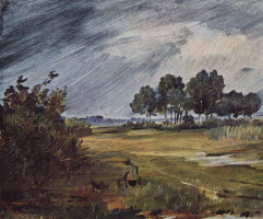 Вильгельм Буш. Пейзаж с дождем