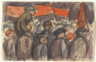 Diego Maria Rivera. May day in Moscow (sketch)
