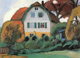 "Gabriele Münter. ""Russian house"" in Murnau"