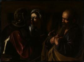 Микеланджело Меризи де Караваджо. Отречение святого Петра