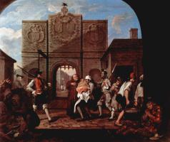William Hogarth. At the gate of Calais