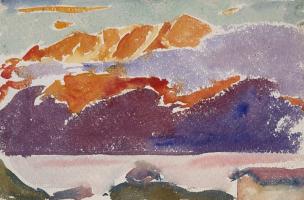Джованни Джакометти. Горы над озером Зильс