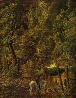 Альбрехт Альтдорфер. Лесной пейзаж со св. Георгием, поражающим дракона