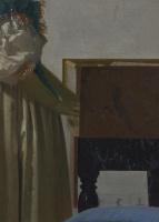 Ян Вермеер. Дама, стоящая у вирджиналя. Фрагмент