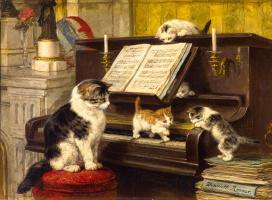 Генриетта Роннер-Книп. Урок игры на пианино